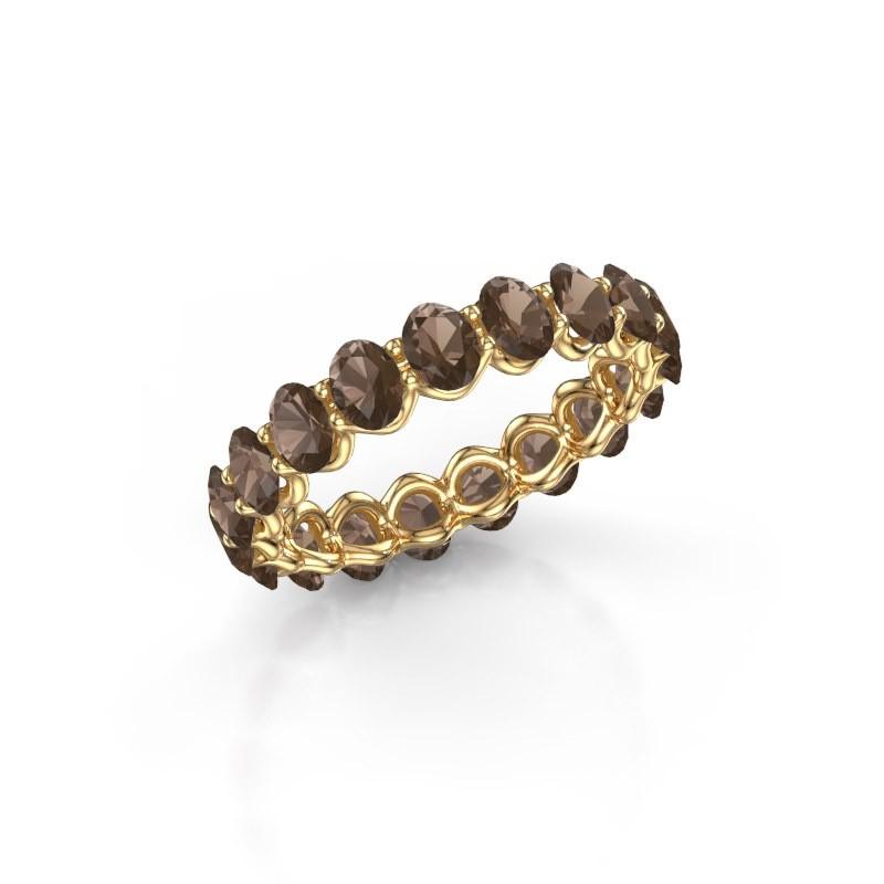 Ring Kirsten OVL 4x3 375 goud rookkwarts 4x3 mm