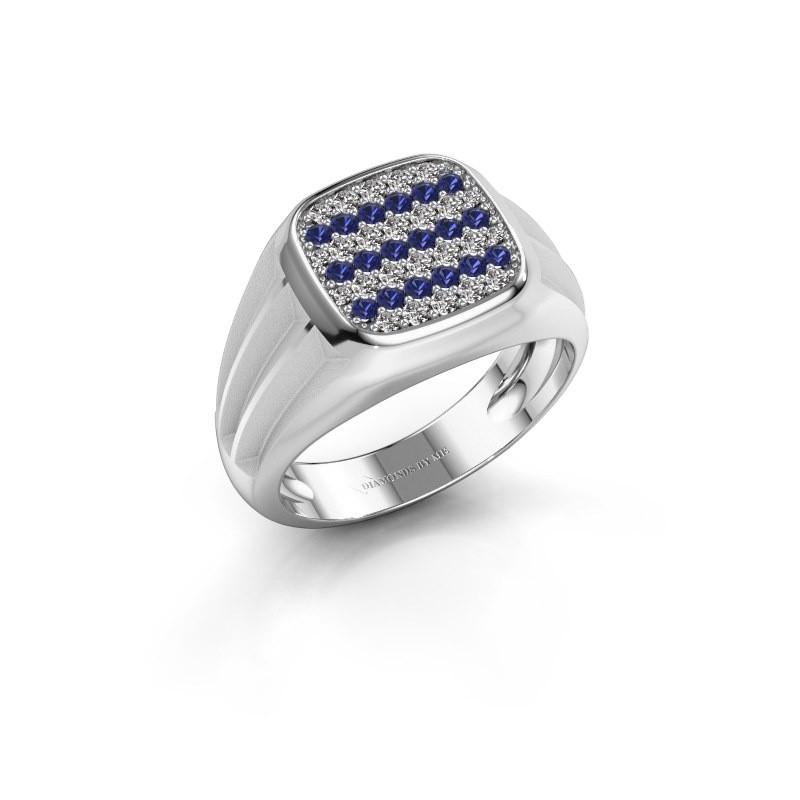 Pinky ring Robbert 950 platinum sapphire 1.4 mm