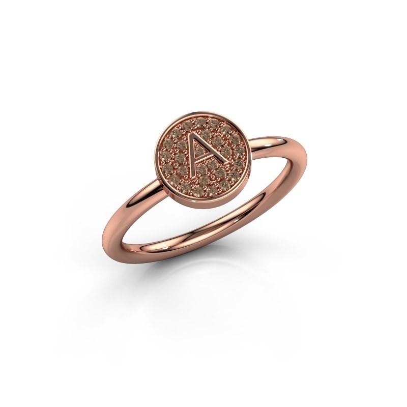 Ring Initial ring 021 375 rosé goud