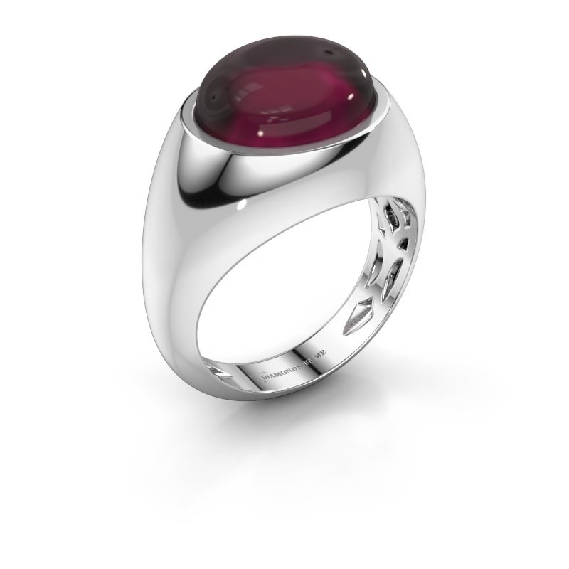 Ring Laurien 375 white gold rhodolite 12x10 mm