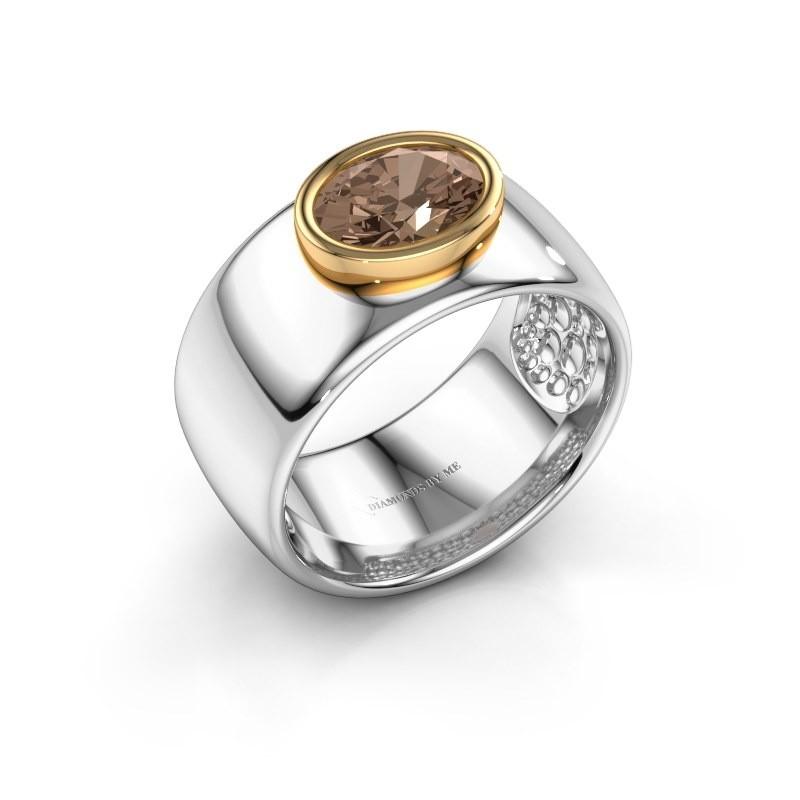 Ring Anouschka 585 witgoud bruine diamant 1.15 crt