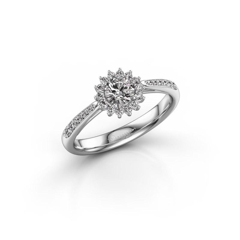 Verlovingsring Tilly RND 2 925 zilver diamant 0.30 crt