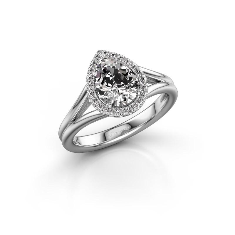 Verlobungsring Verla pear 1 950 Platin Lab-grown Diamant 1.097 crt