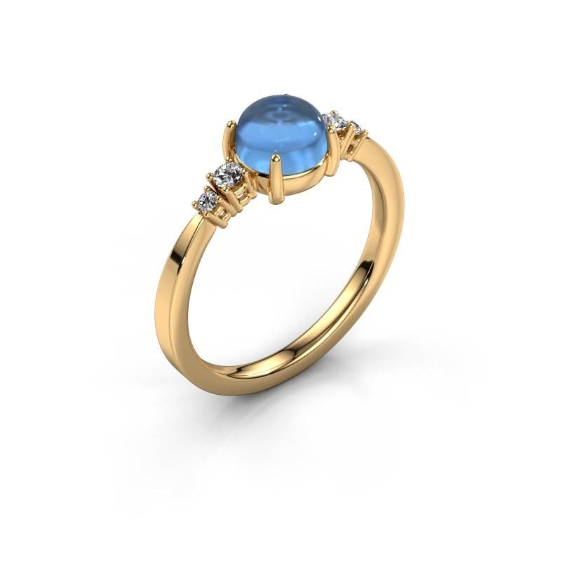 Ring Regine 585 gold blue topaz 6 mm