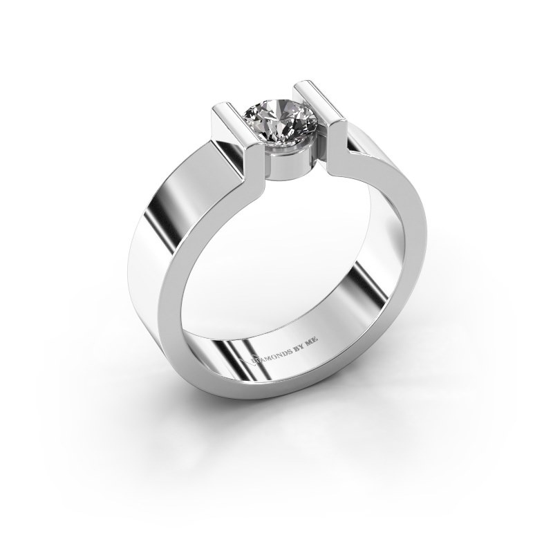 Verlovingsring Isabel 1 925 zilver diamant 0.40 crt