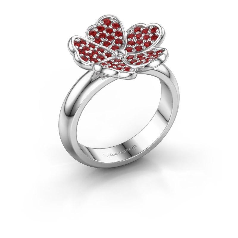 Ring Daphne 950 platinum ruby 1.2 mm