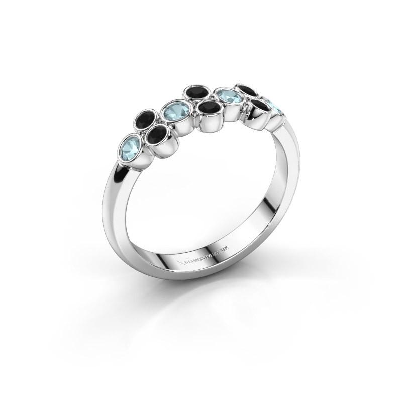 Ring Kayleigh 585 white gold aquamarine 2.4 mm