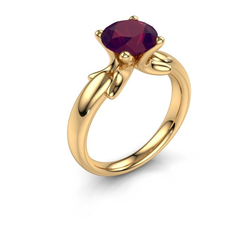Bague Jodie 585 or jaune rhodolite 8 mm