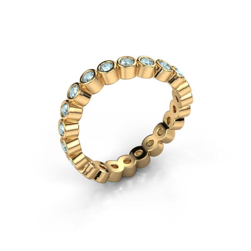 Ring Liz 585 goud aquamarijn 2 mm