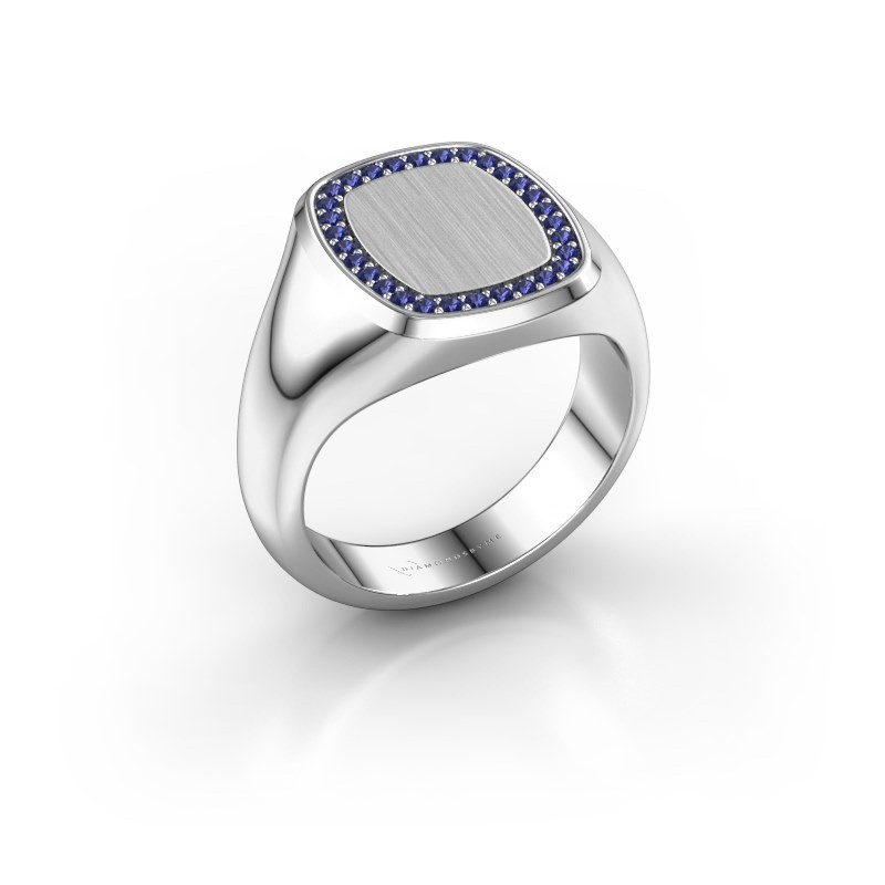 Men's ring Floris Cushion 3 925 silver sapphire 1.2 mm