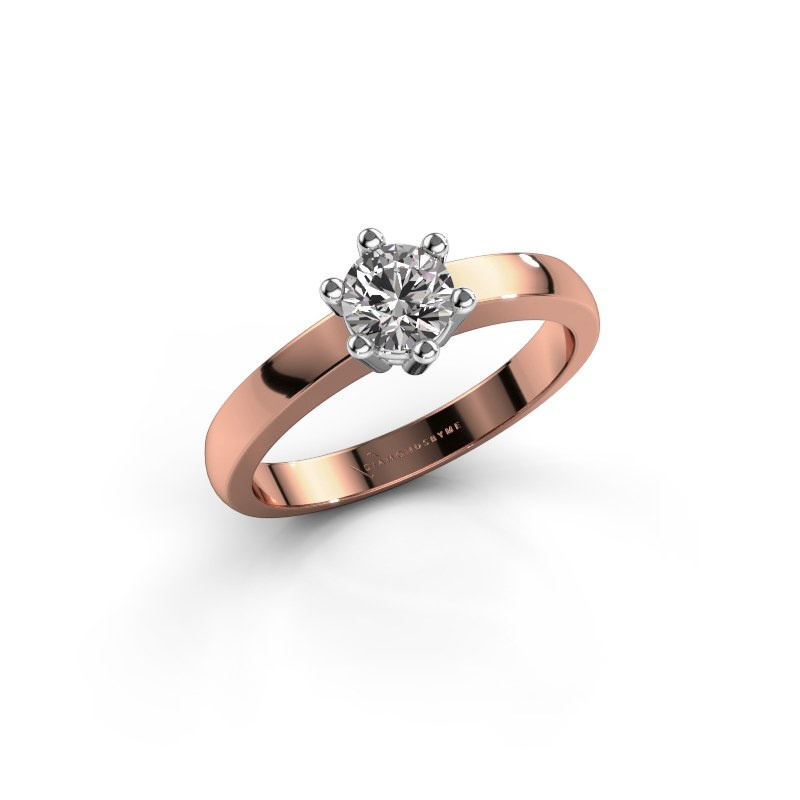 Engagement ring Luna 1 585 rose gold diamond 0.30 crt