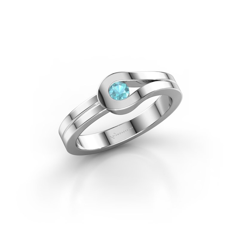 Ring Kiki 925 Silber Blau Topas 3 mm