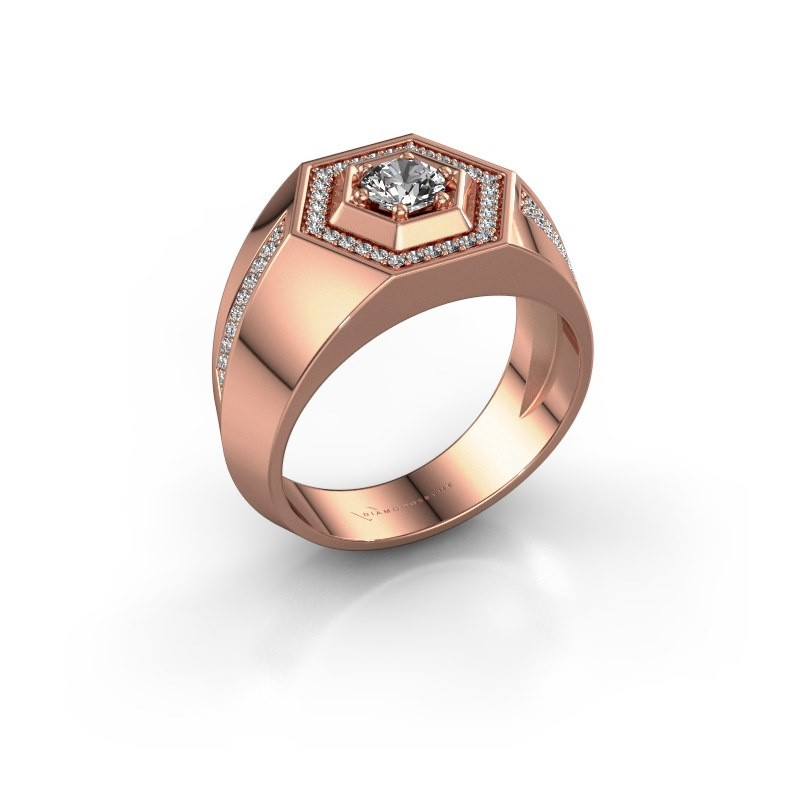 Men's ring Sjoerd 375 rose gold lab grown diamond 0.73 crt
