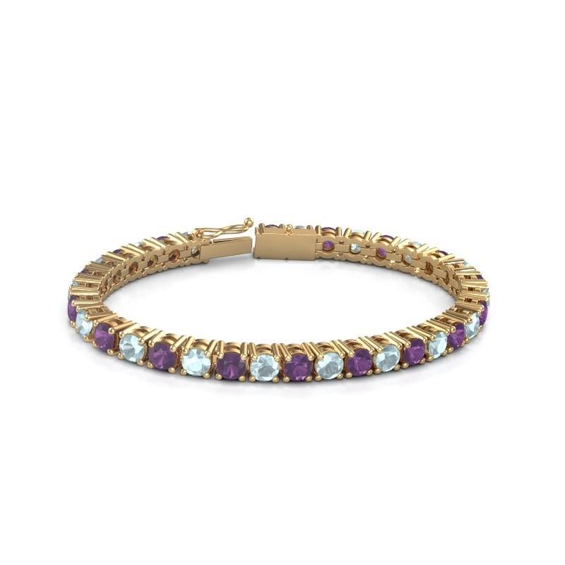 Tennisarmband Ming 375 goud amethist 5 mm