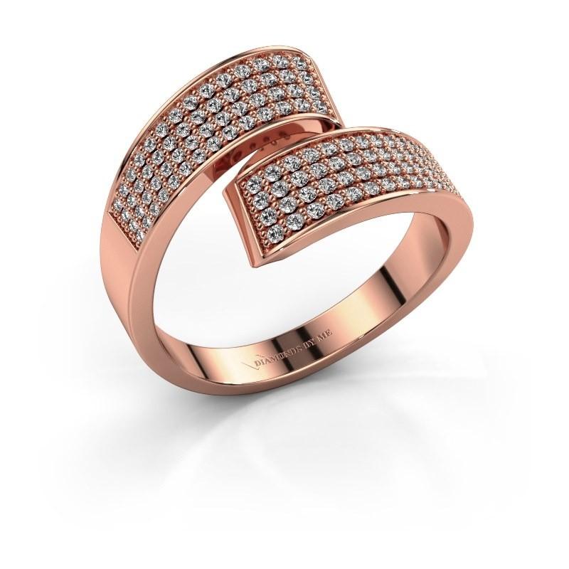 Ring Athena 375 rosé goud lab-grown diamant 0.674 crt