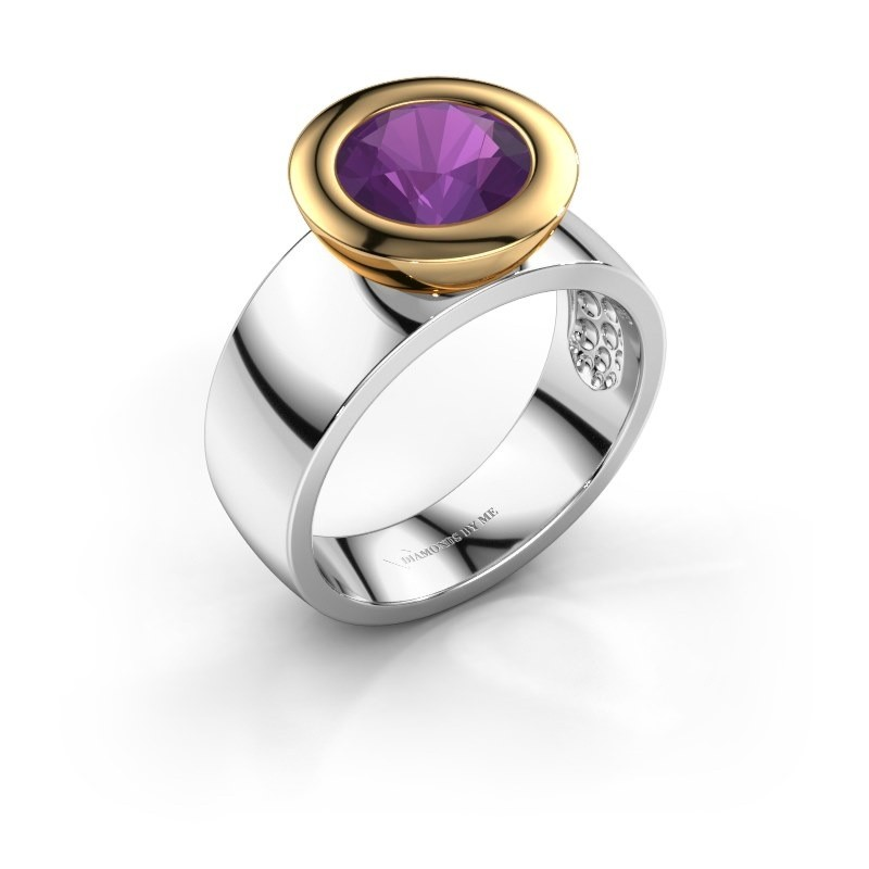 Ring Maxime 585 white gold amethyst 8 mm