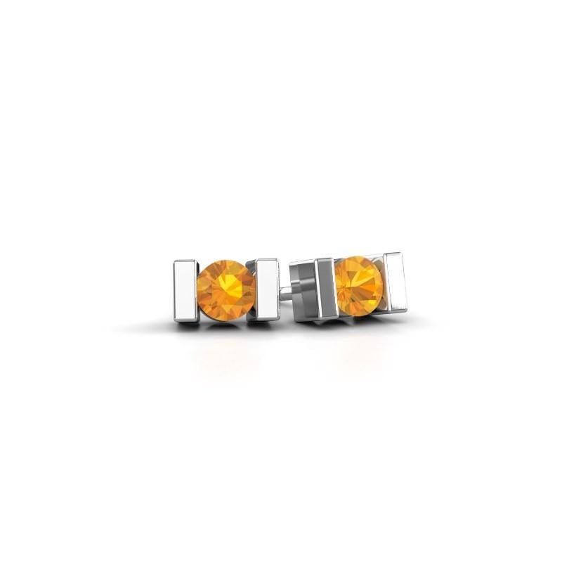Oorstekers Lieve 950 platina citrien 3.7 mm