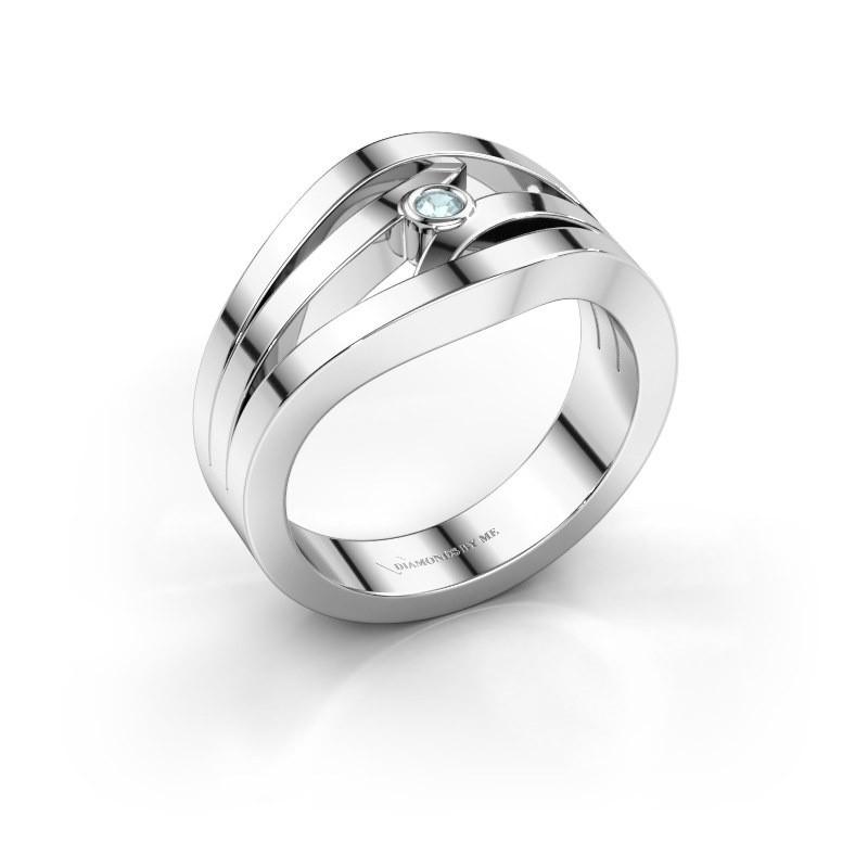 Ring Carlijn 925 Silber Aquamarin 2 mm