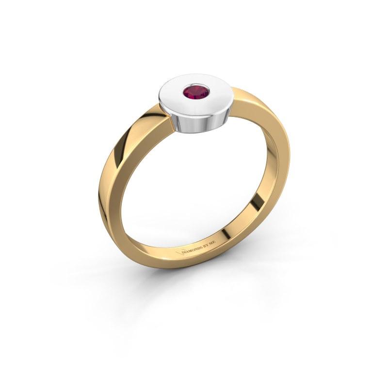 Ring Elisa 585 Gold Rhodolit 3 mm