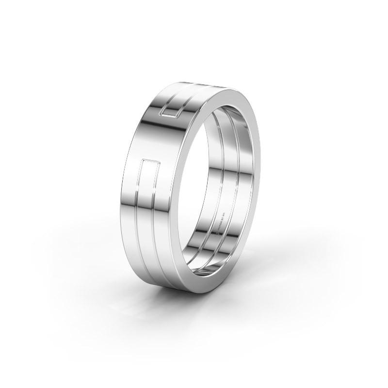 Wedding ring WMH0530M 925 silver ±6x2 mm