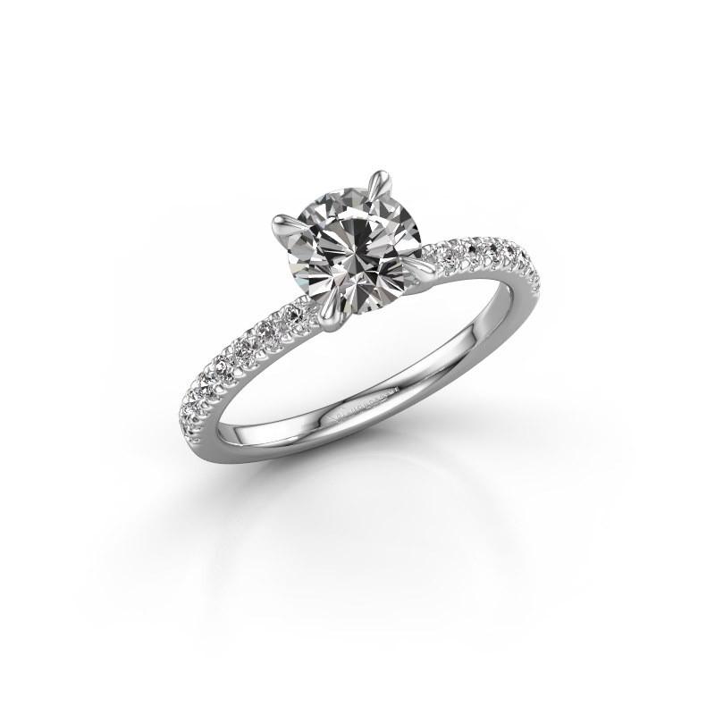 Verlobungsring Crystal rnd 2 585 Weißgold Diamant 1.24 crt