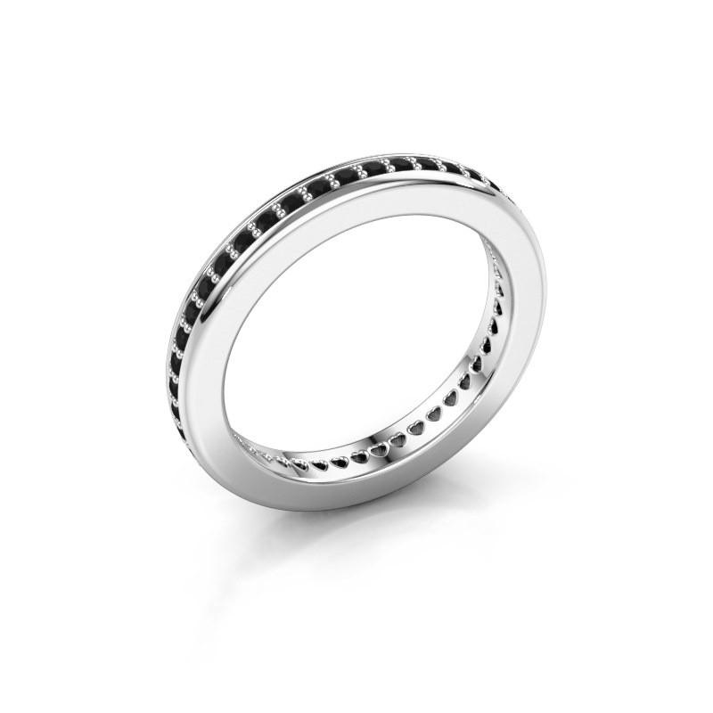Aanschuifring Elvire 3 925 zilver zwarte diamant 0.576 crt