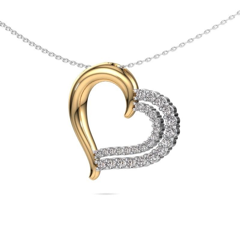 Halsketting Kandace 585 goud diamant 0.56 crt