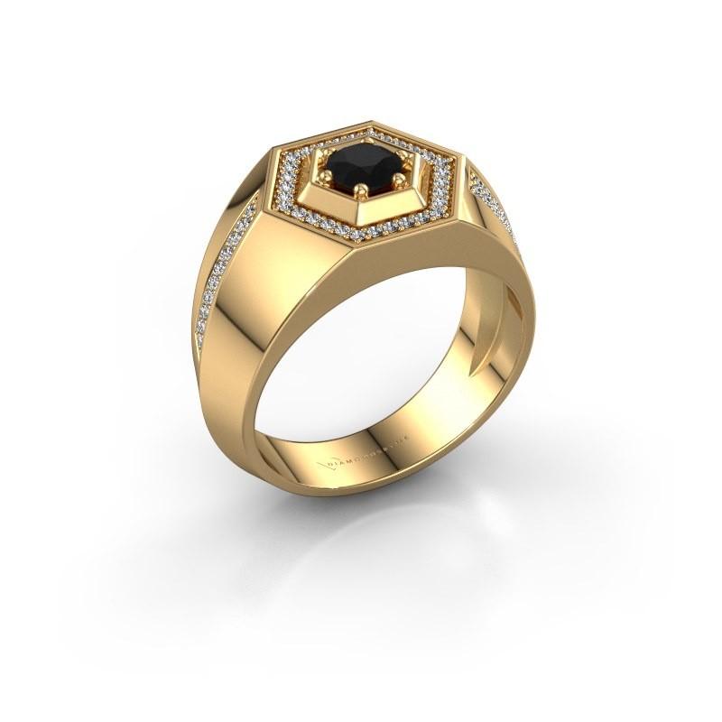 Men's ring Sjoerd 585 gold black diamond 0.81 crt