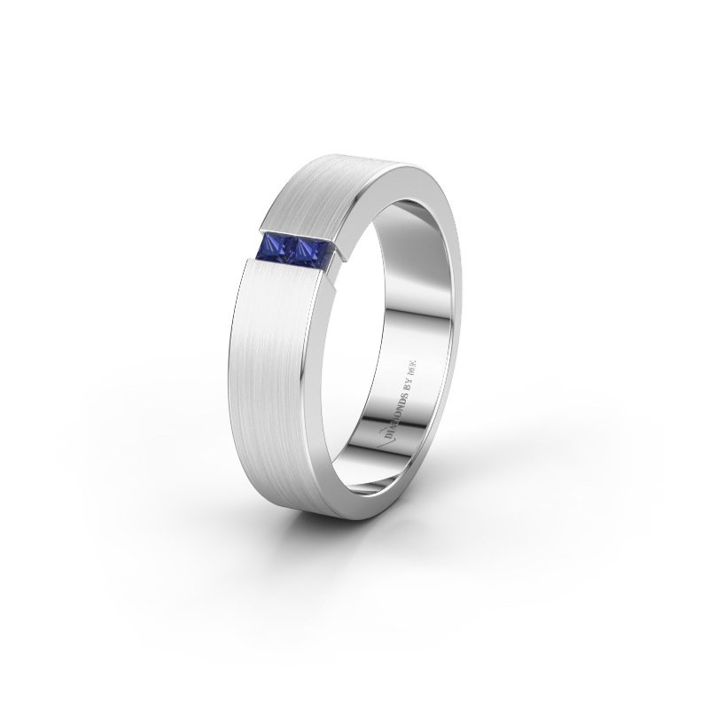 Wedding ring WH2136L15E 585 white gold sapphire ±5x2.6 mm