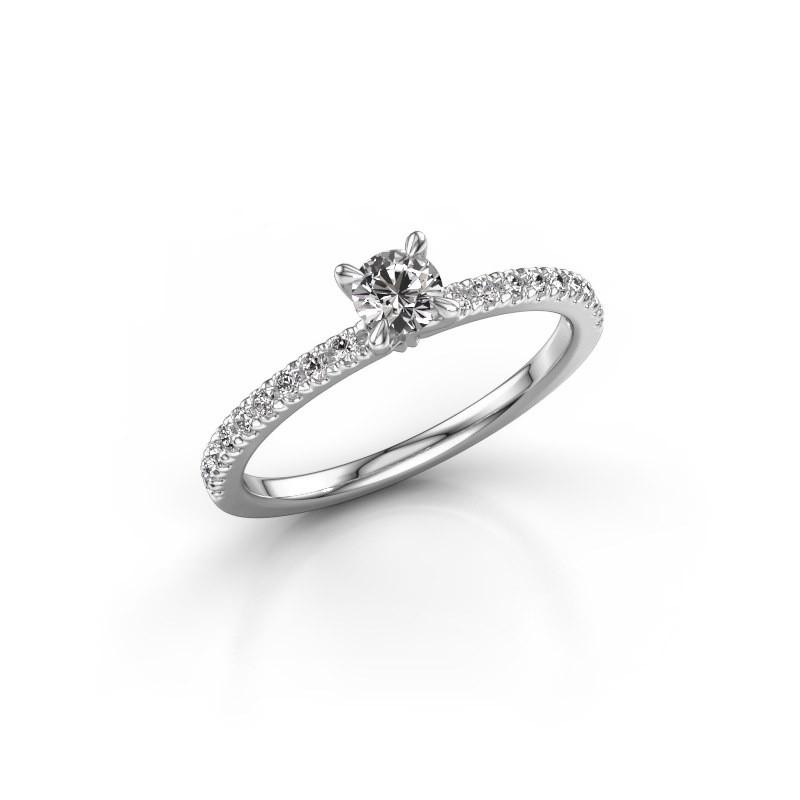 Verlovingsring Crystal rnd 2 585 witgoud diamant 0.48 crt