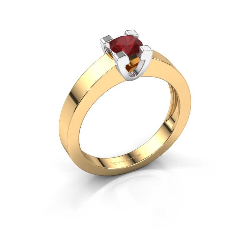 Promise ring Anne 1 585 goud robijn 4.7 mm