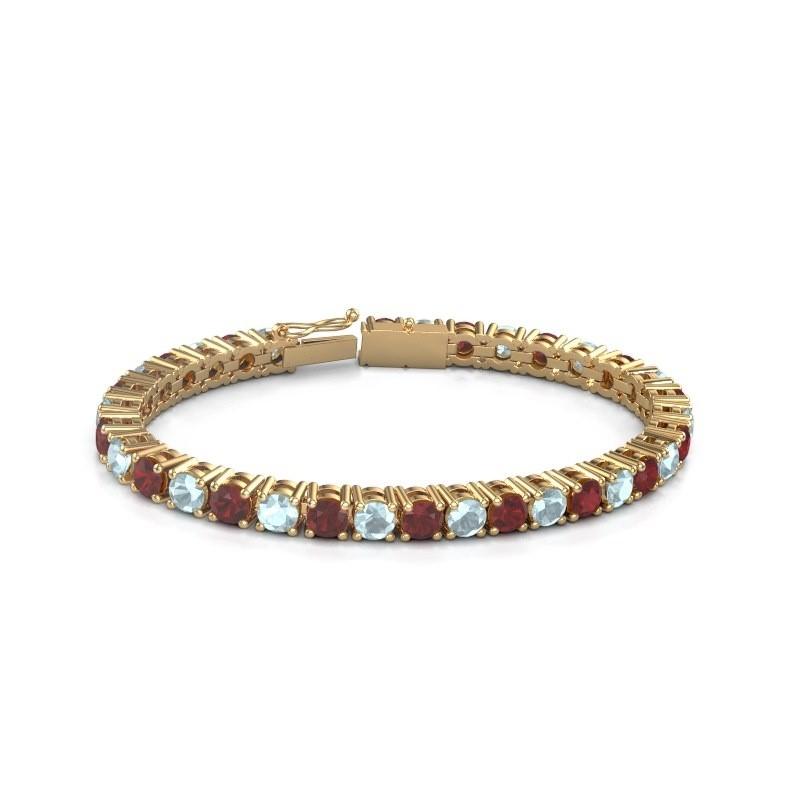 Tennisarmband Ming 375 goud robijn 5 mm