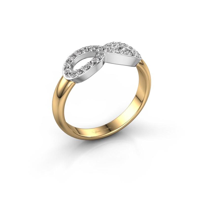 Ring Infinity 2 585 goud diamant 0.188 crt