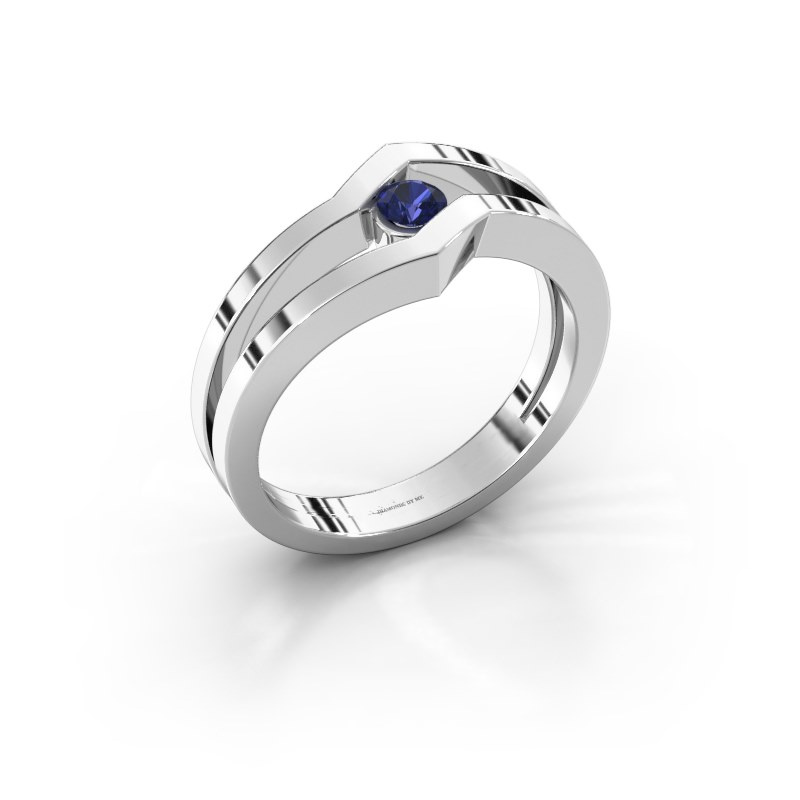 Ring Elize 585 white gold sapphire 3.4 mm