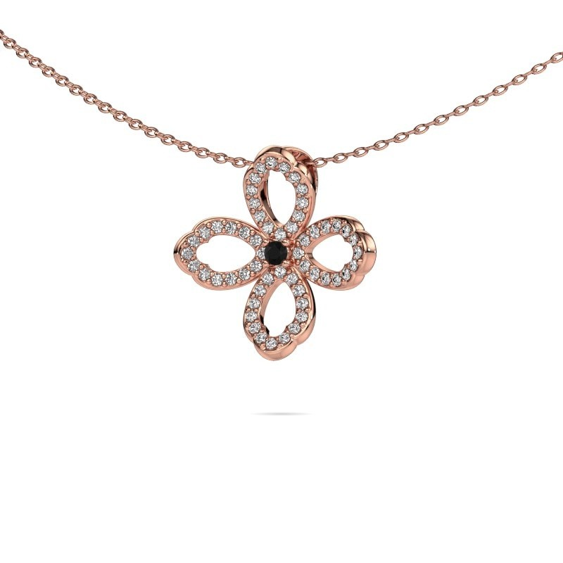 Collier Chelsea 375 or rose diamant noir 0.316 crt