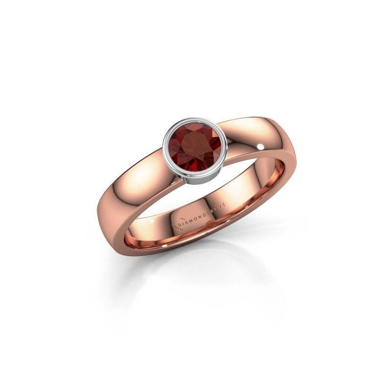 Ring Ise 1 585 rose gold garnet 4.7 mm