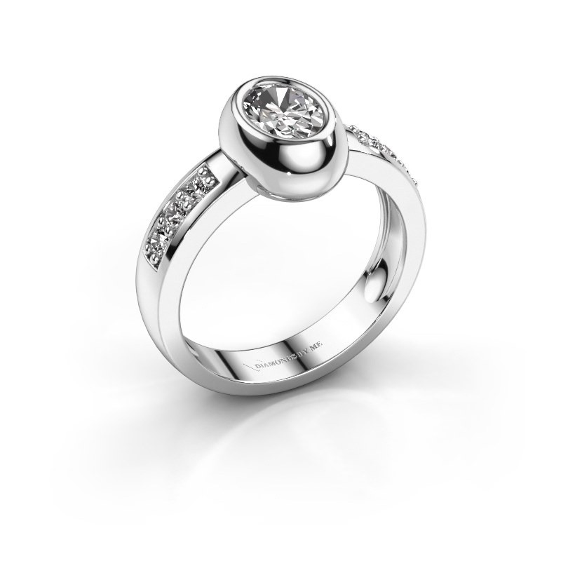 Ring Charlotte Oval 925 silver zirconia 7x5 mm