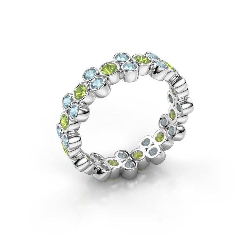 Ring Victoria 585 white gold peridot 2.4 mm