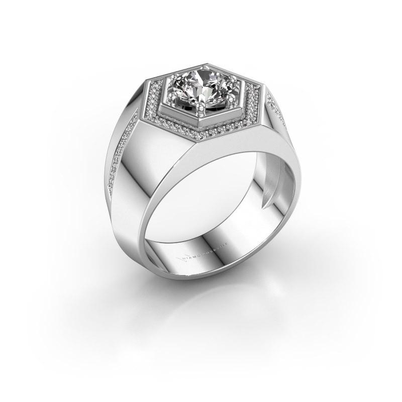 Men's ring Sjoerd 925 silver diamond 1.360 crt
