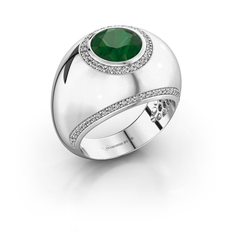 Ring Roxann 585 white gold emerald 8 mm