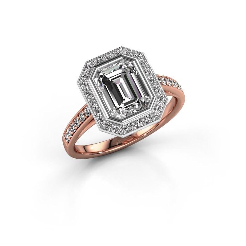 Verlovingsring Noud 2 EME 585 rosé goud lab-grown diamant 2.074 crt