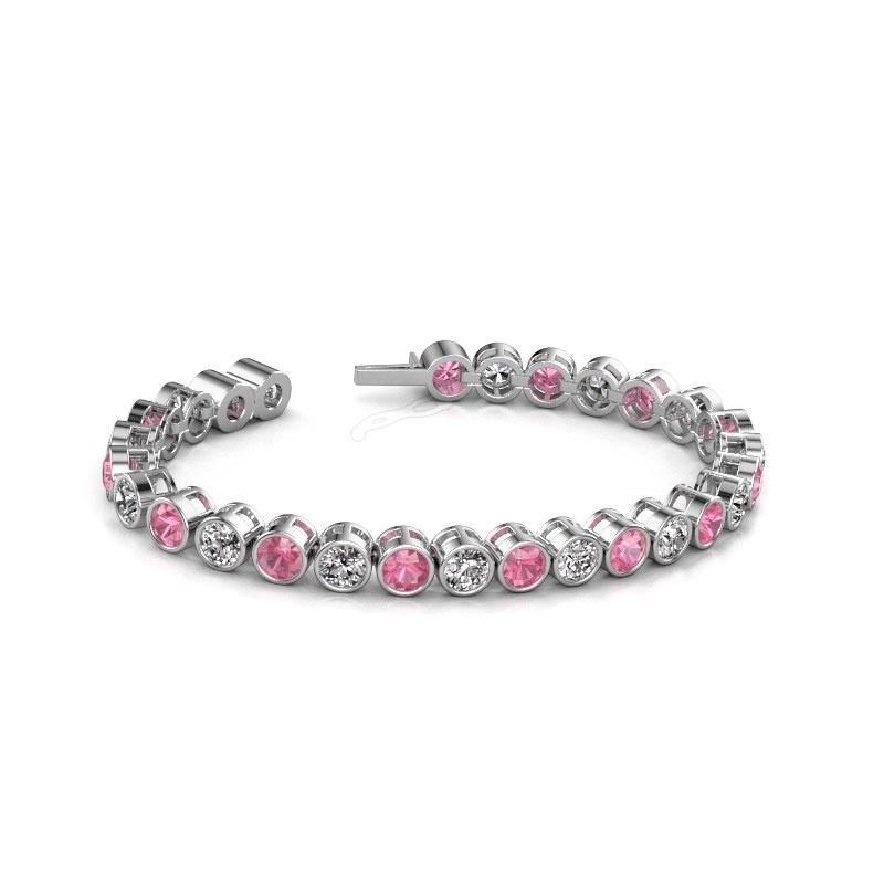 Tennis bracelet Allegra 5 mm 585 white gold pink sapphire 5 mm