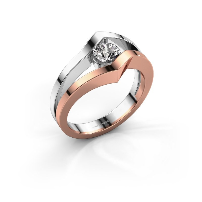 Ring Elize 585 rosé goud diamant 0.40 crt