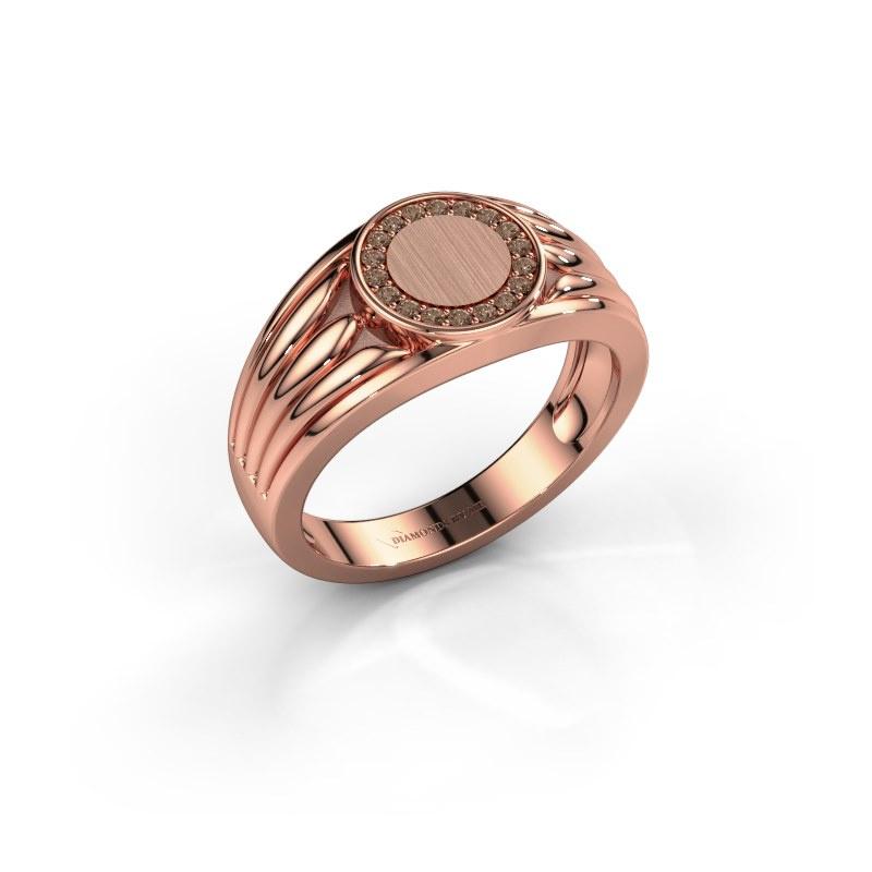 Pinky Ring Jacobus 585 Roségold Braun Diamant 0.135 crt