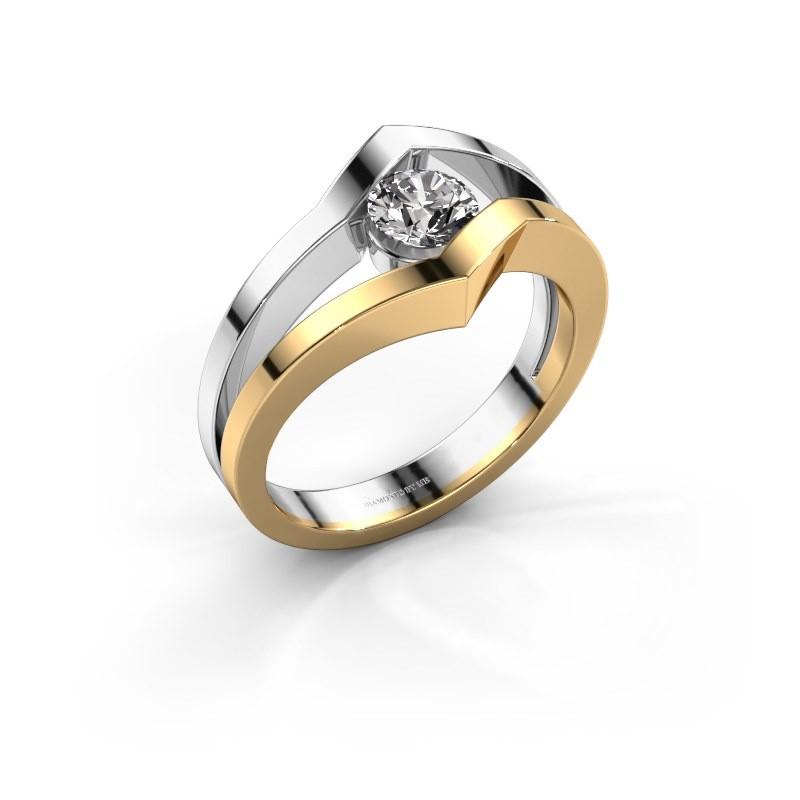 Bague Elize 585 or jaune diamant 0.30 crt