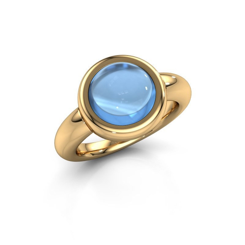 Ring Jenae 585 gold blue topaz 10 mm