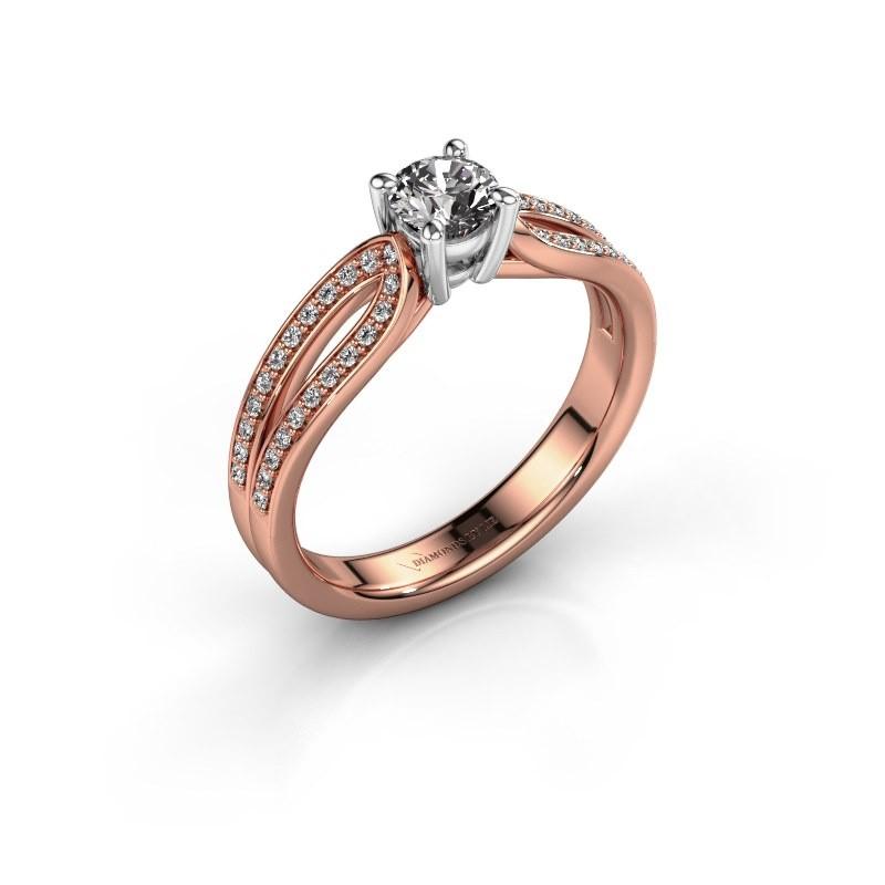 Bague de fiançailles Antonia 2 585 or rose diamant 0.63 crt