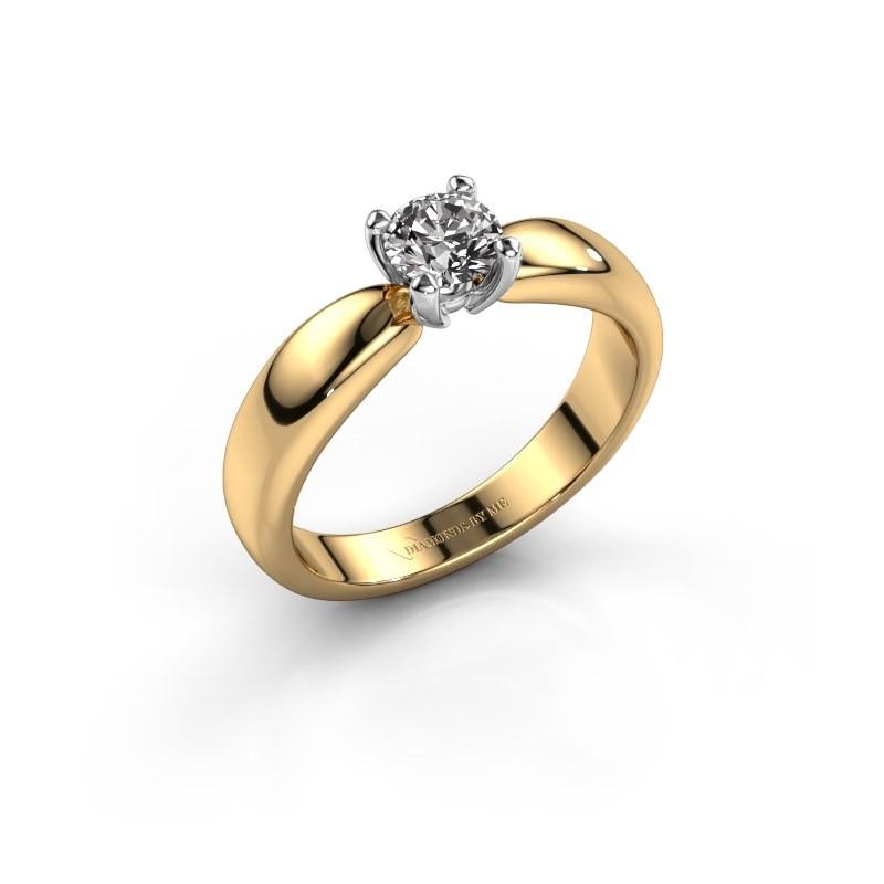 Promise ring Katrijn 585 goud diamant 0.50 crt