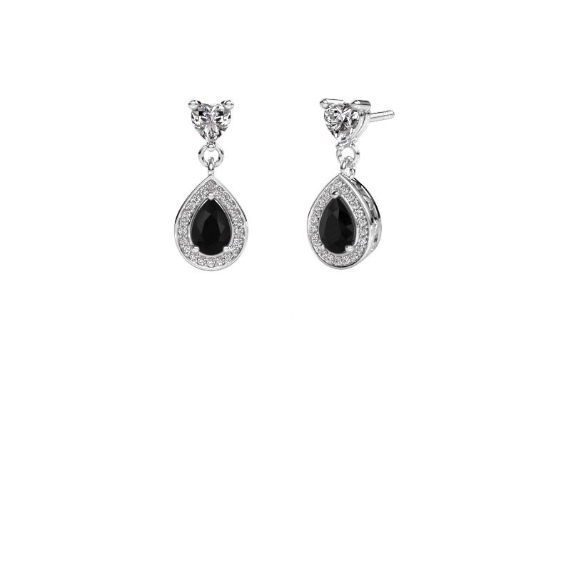 Drop earrings Susannah 585 white gold black diamond 1.69 crt