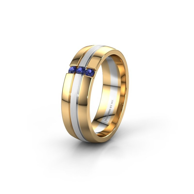 Wedding ring WH0426L26A 585 gold sapphire ±6x1.7 mm